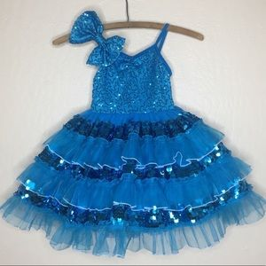 Weissman sequin dance costume